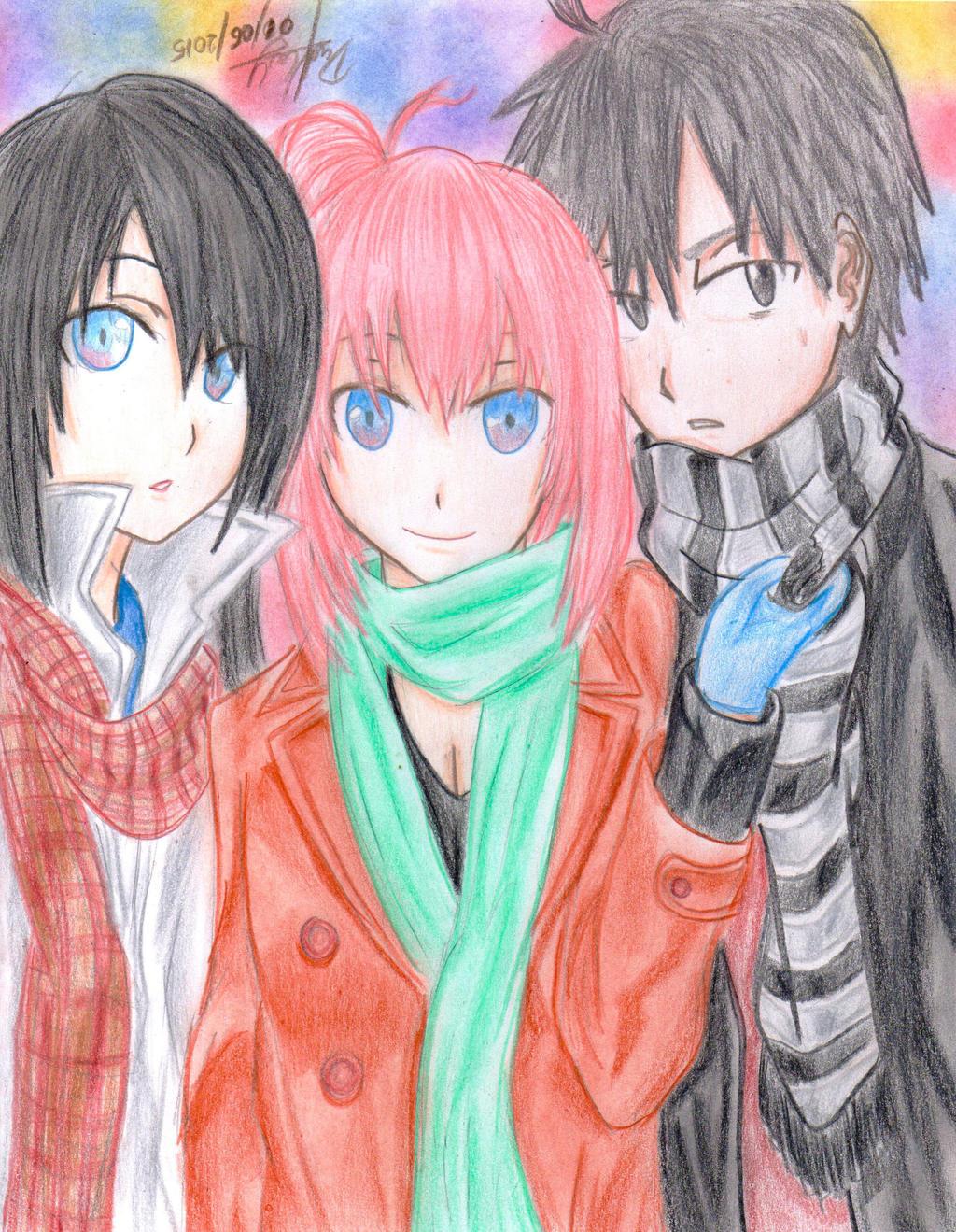 Yukino, Yui and 8man by danielcamilo