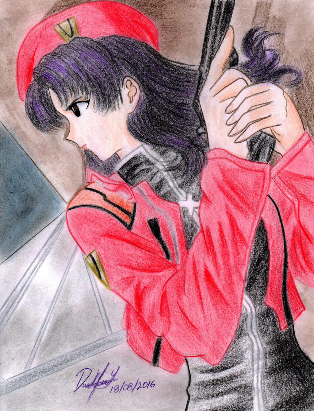 Misato Katsuragi by danielcamilo