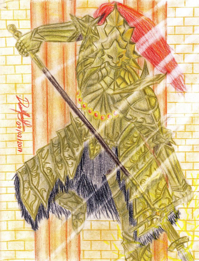Dragon Slayer Ornstein (Dark Souls) by danielcamilo
