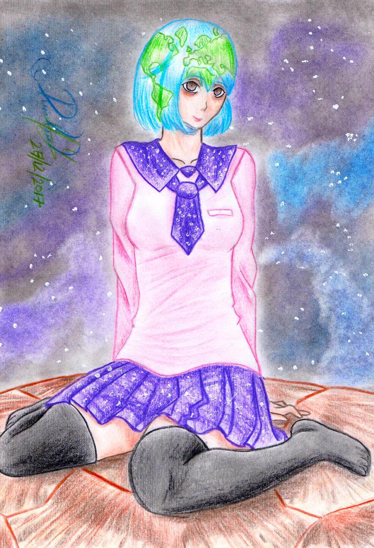 Earth-chan by danielcamilo