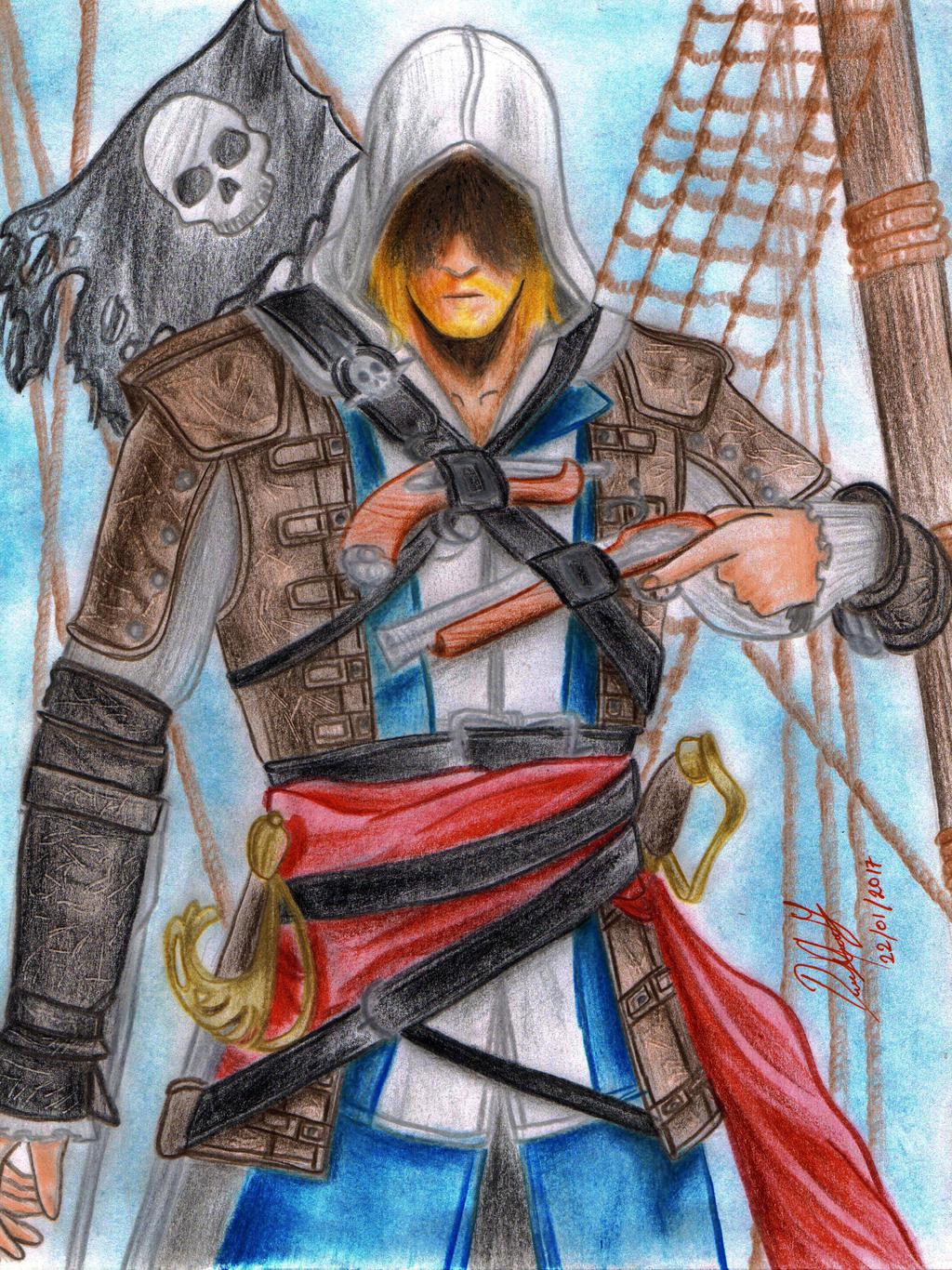 Edward Kenway (Assassin's Creed IV: Black Flag) by danielcamilo