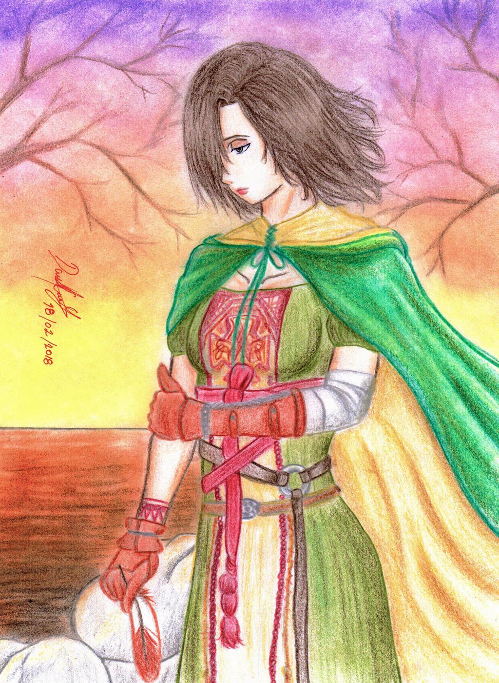 Emerald Herald (Dark Souls 2) by danielcamilo