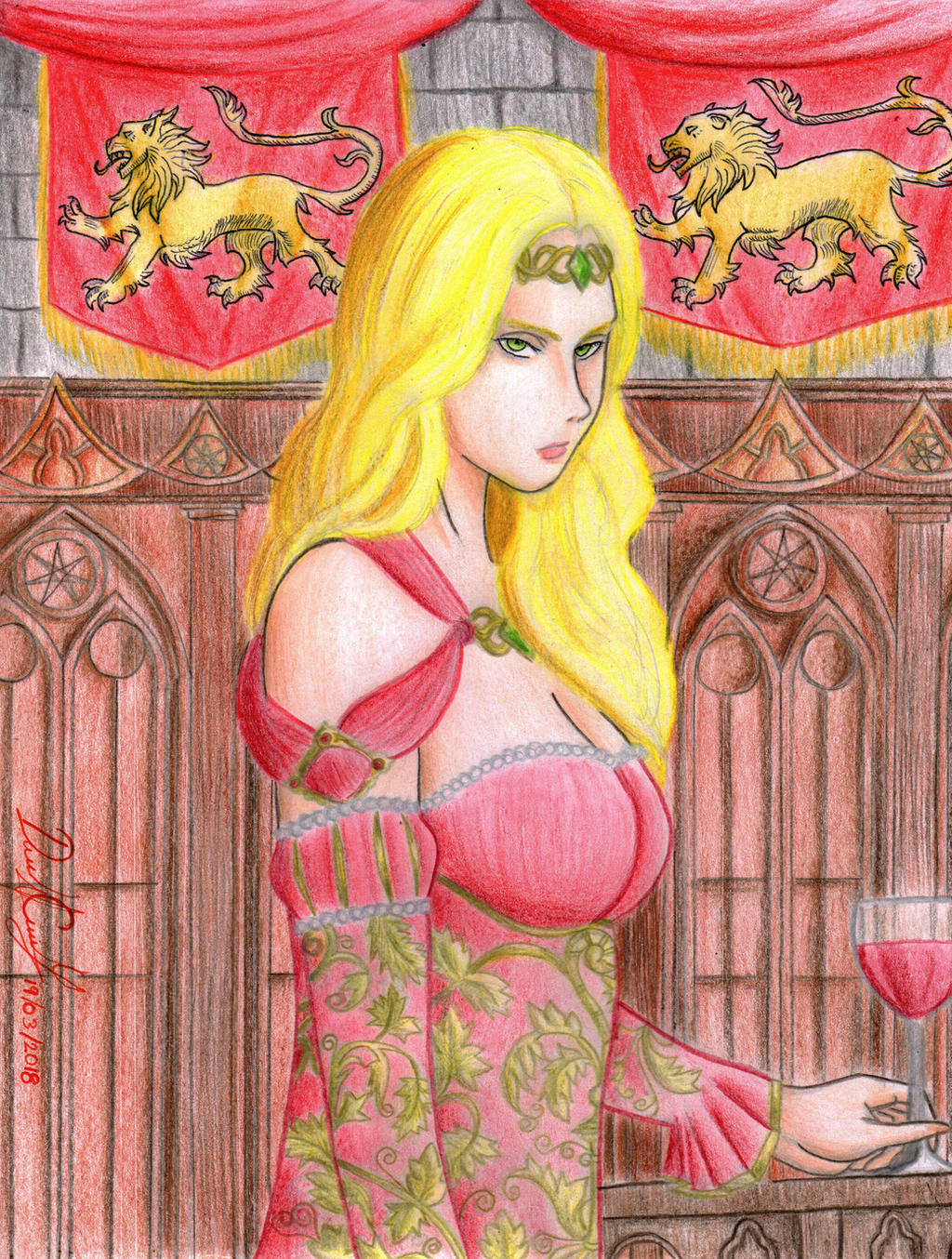 Cersei Lannister (book version) by danielcamilo