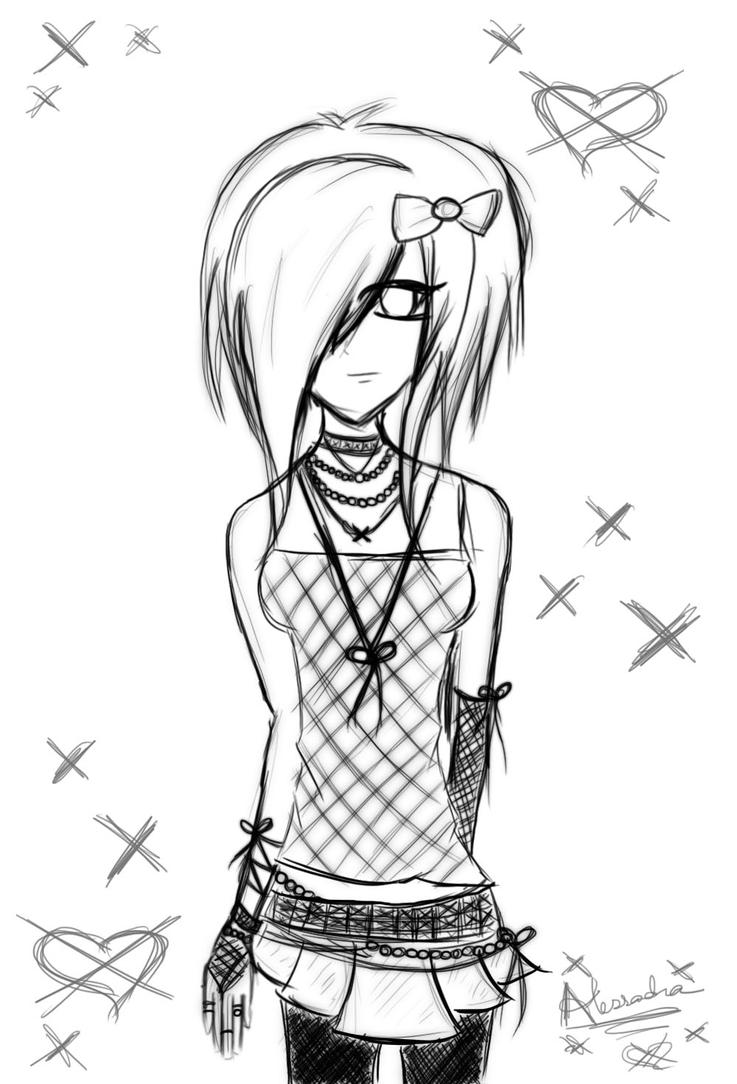 emo heart coloring pages | colourless by DaggersSpeakLouder on DeviantArt
