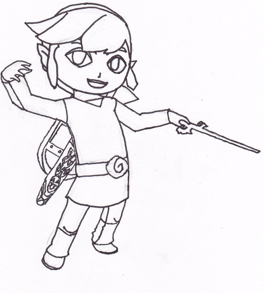 toon link coloring pages - photo#23