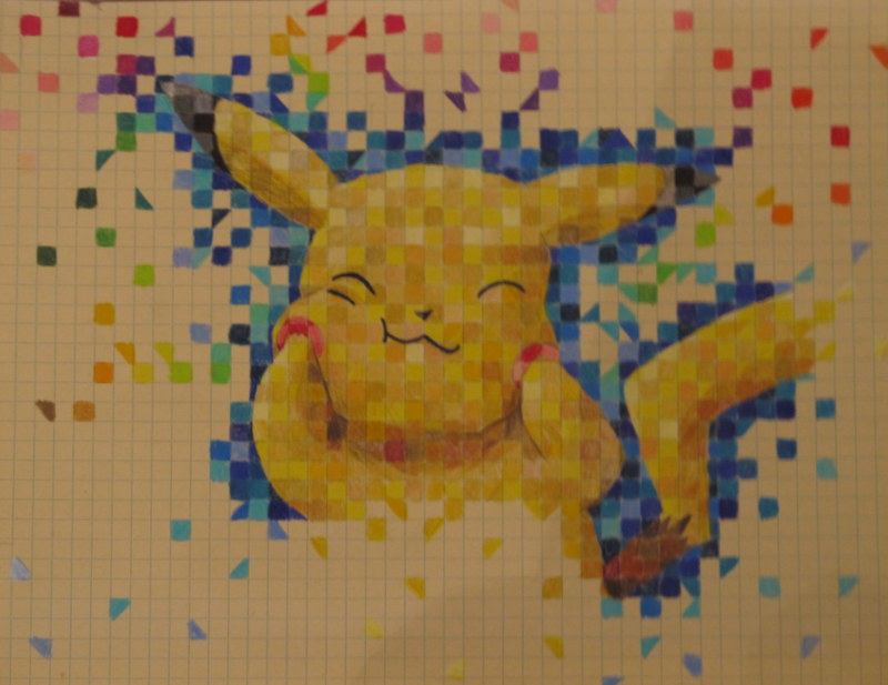 Pikachu Graph Paper by snowwhiteandtheseven