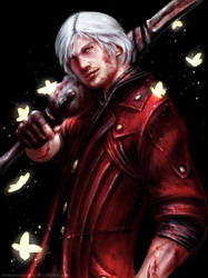 Dante from Devil May Cry 4 :'D by HoneyBunny-Art