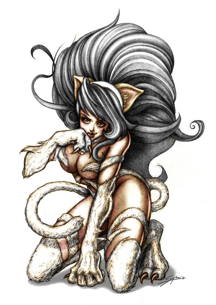 Darkstalkers' Felicia by Synndrake