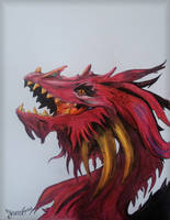 Red dragon drawing
