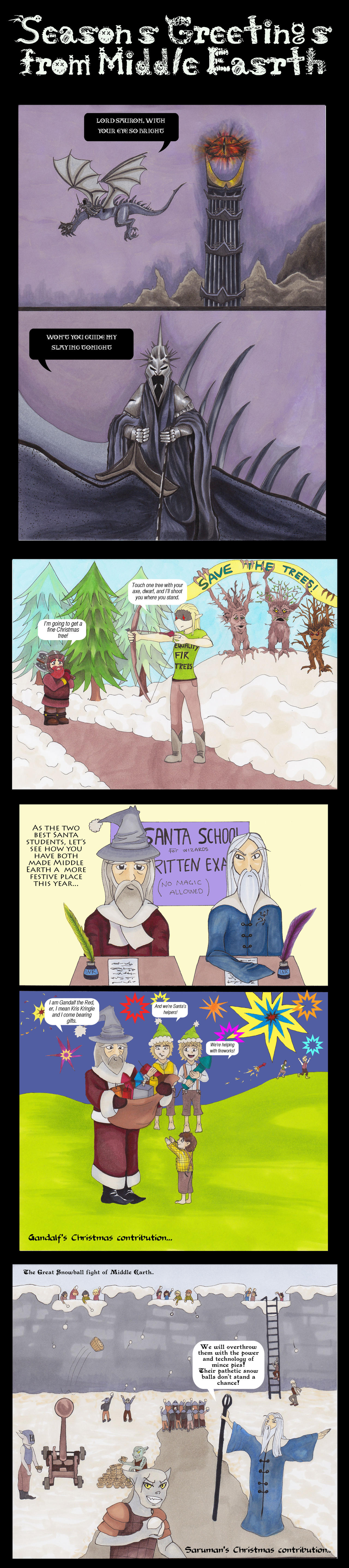 Christmas in Middle Earth..? by Dragon-flame13