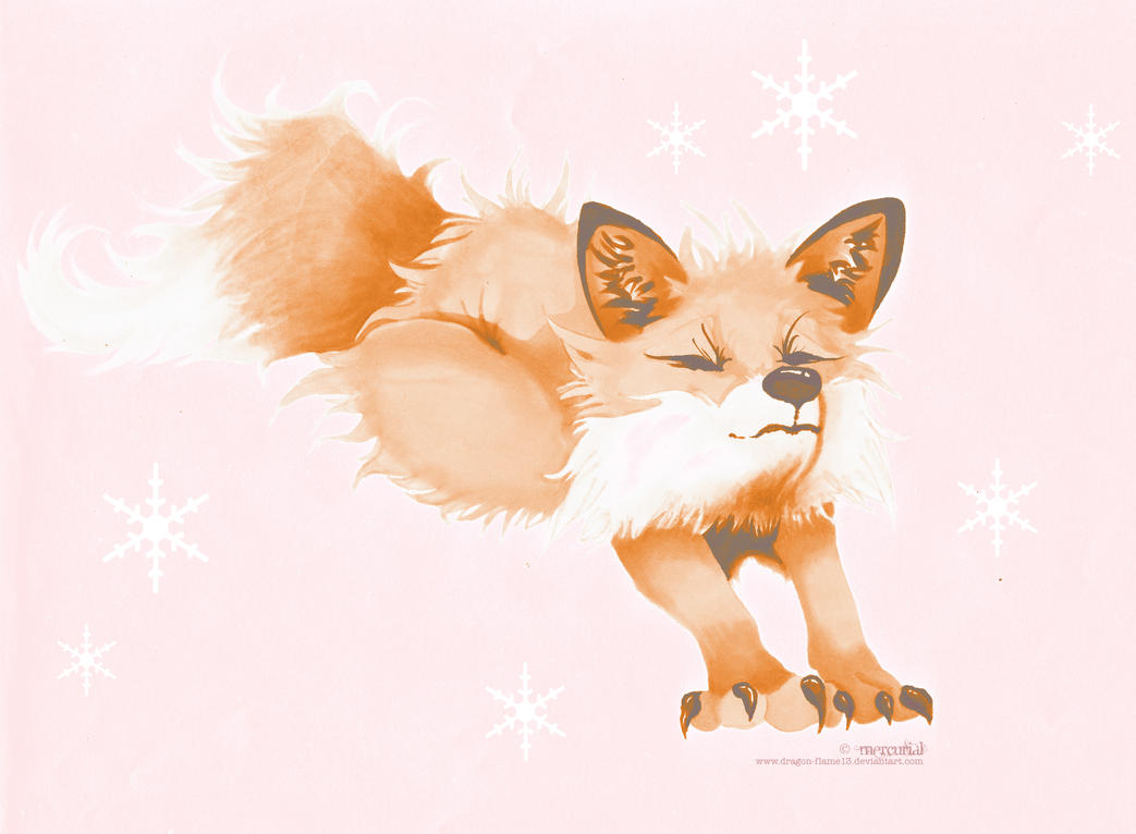 Winter Fox by Dragon-flame13