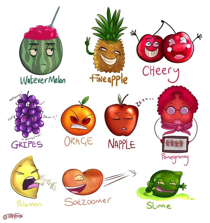 Fruit Puns by mercurialfox