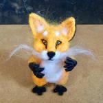 Fibre art Fox by mercurialfox