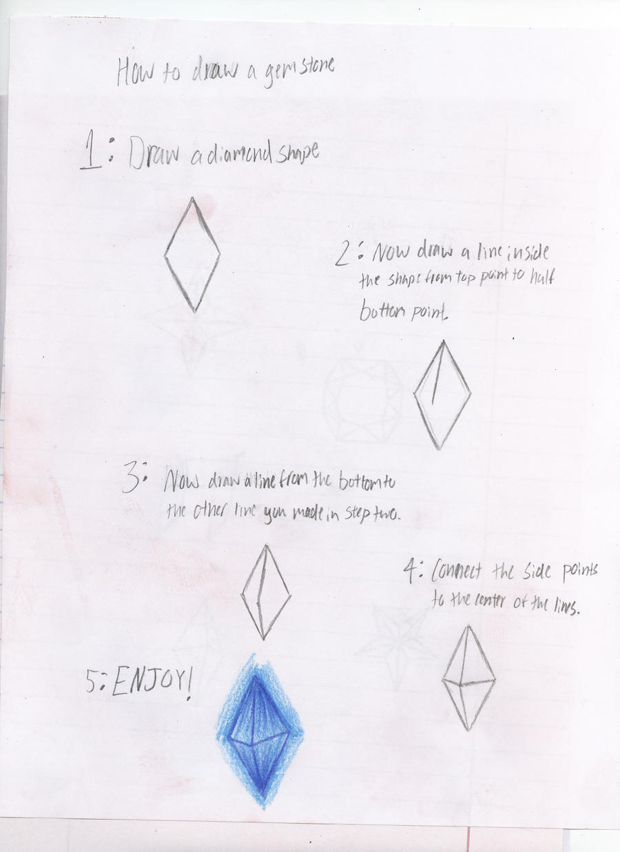 how to draw a gem step by step