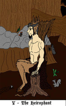 Tarot design 05 The Heirophant by wolf-max