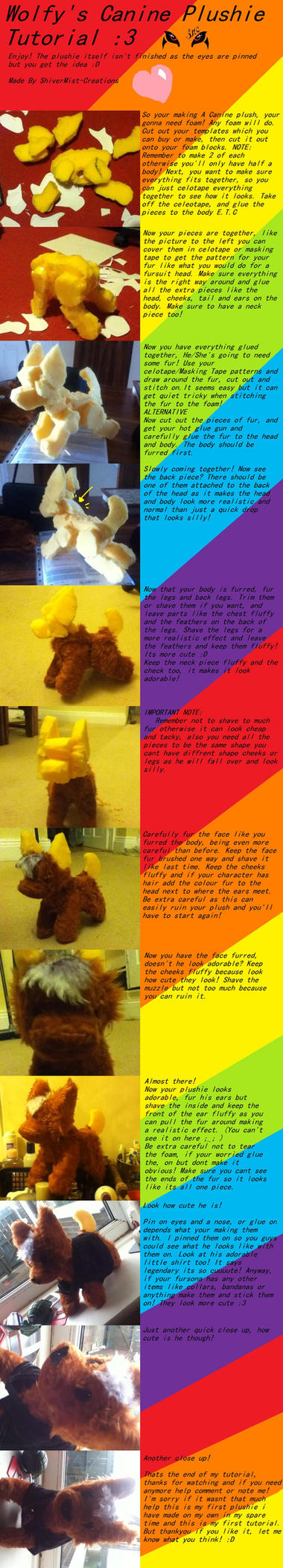 CANINE PLUSHIE TUTORIAL by CLIDEthewolf