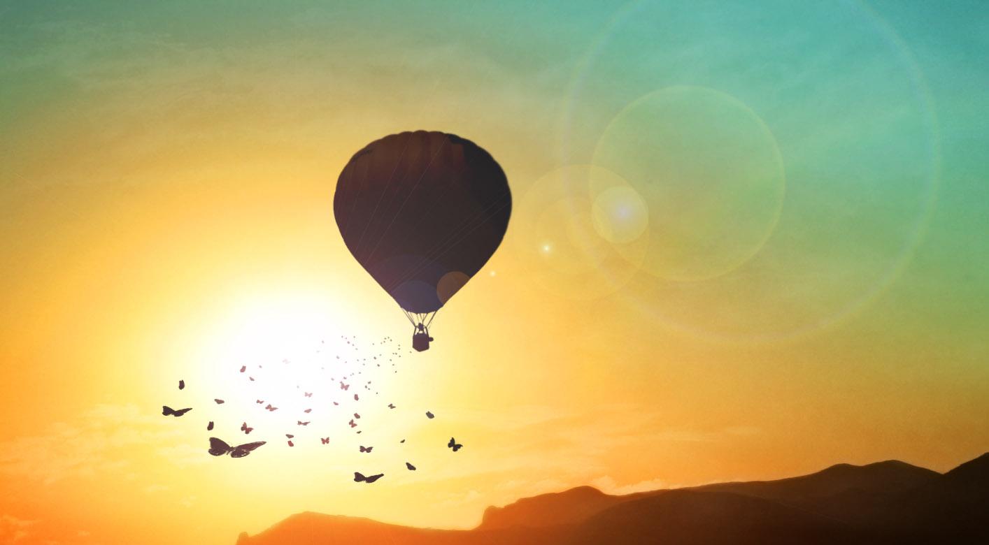 butterfly hot air baloon