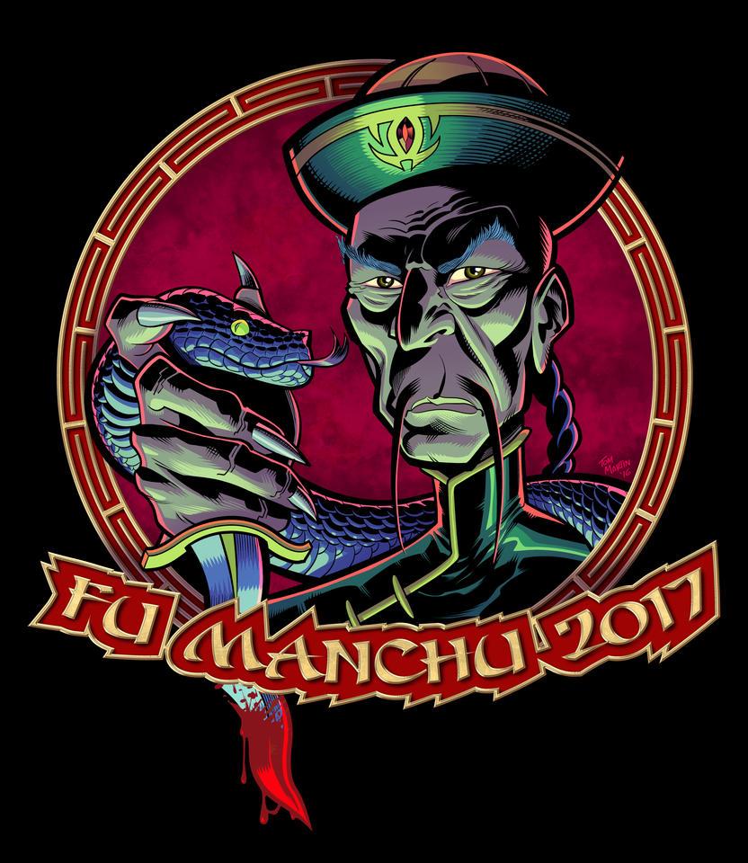 Fu Manchu Russefeiring Design by TomMartinArt