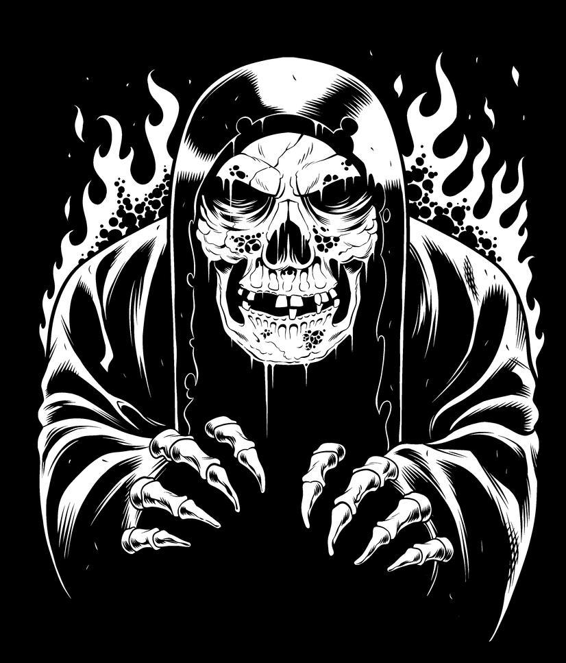 Skeleton Reaper Guy by TomMartinArt