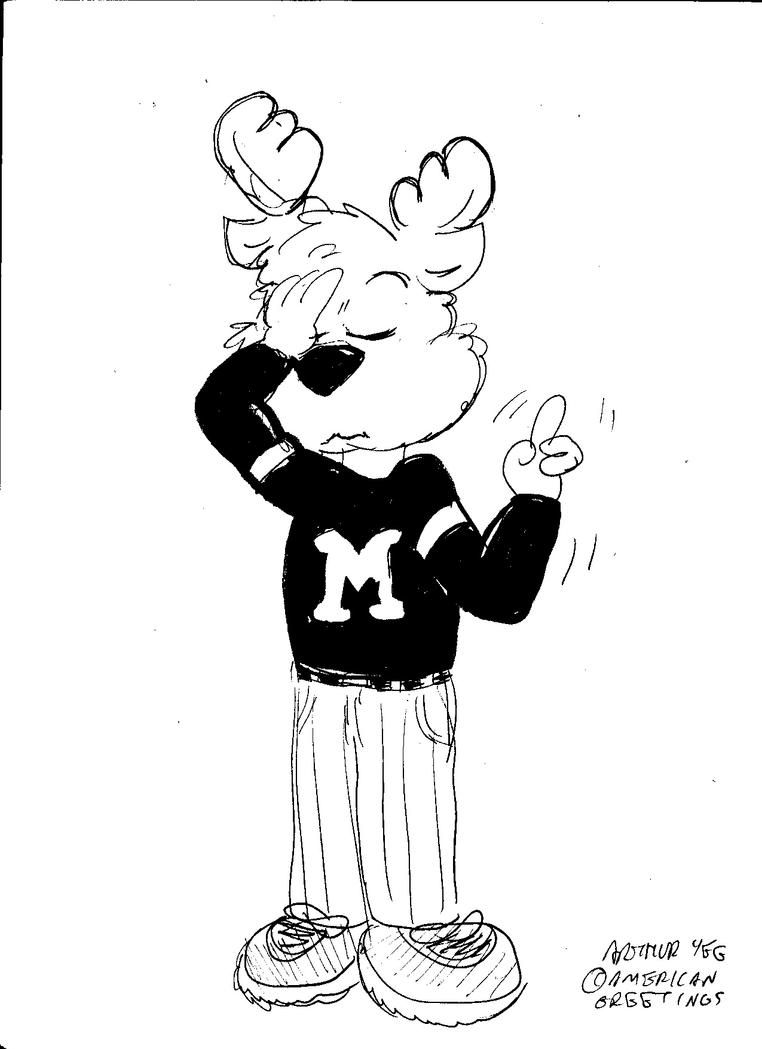 One Moose Moment, Please by Artytoons
