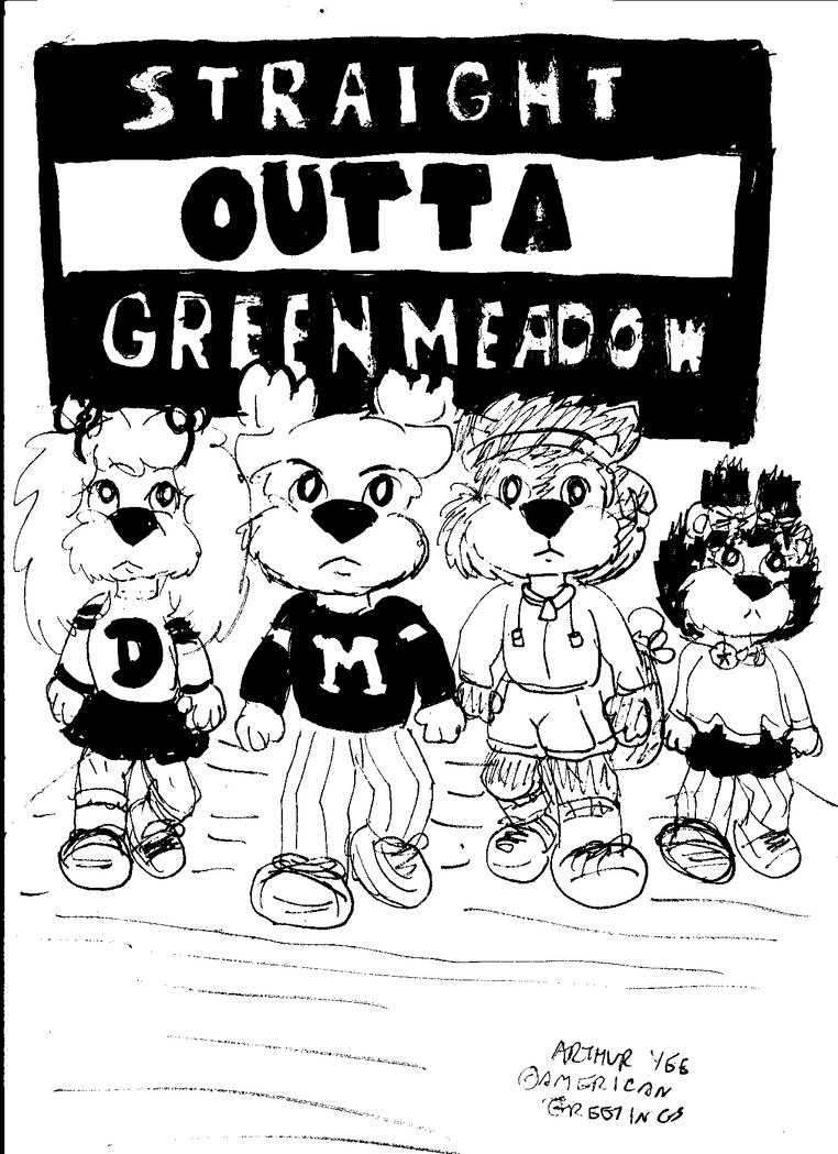 Straight Outta Green Meadow by Artytoons