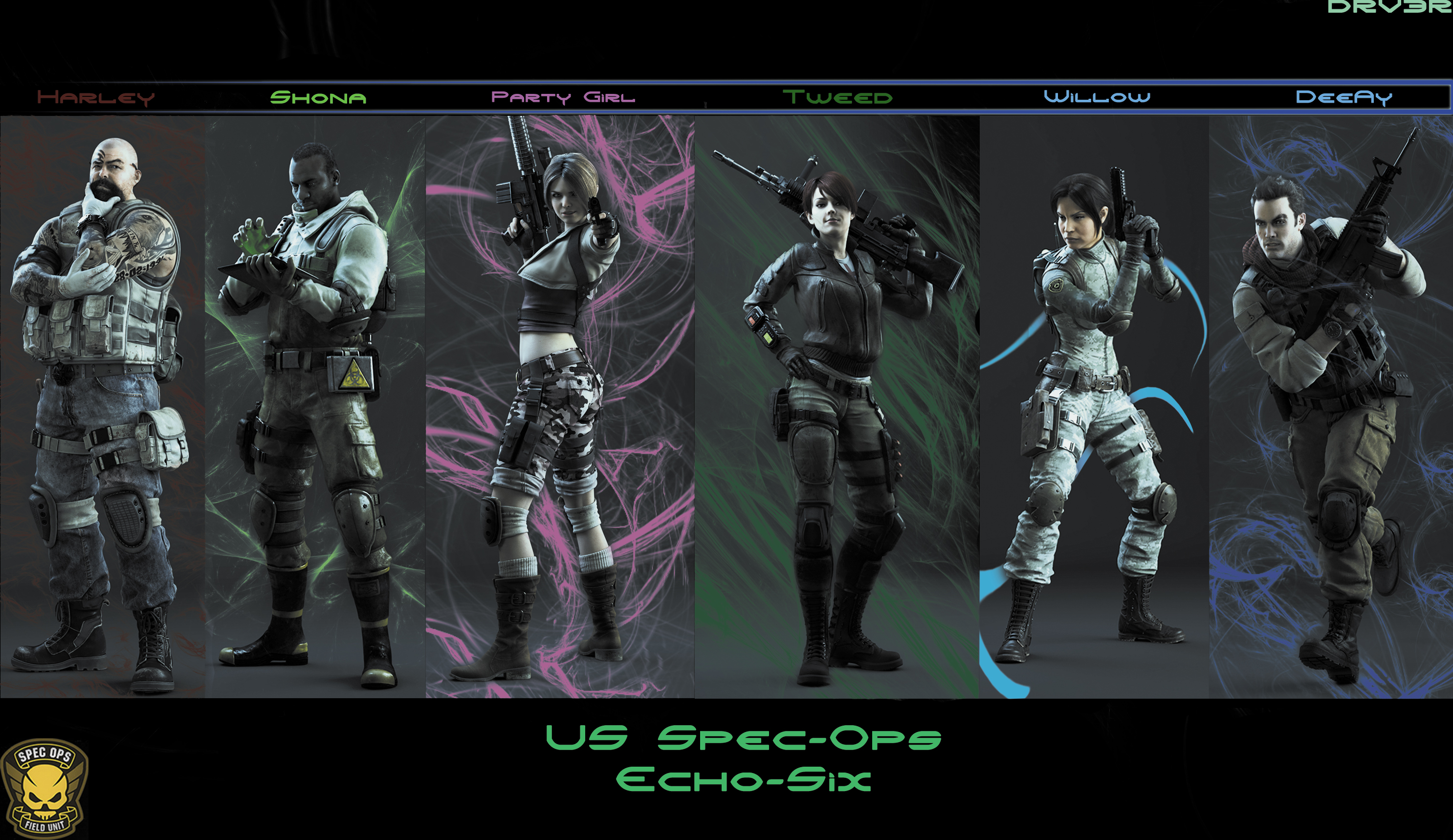 Us Spec Ops Echo Six Re Operation Raccoon City By Drv3r On Deviantart