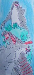 My Favourites Godzillas by balint2002