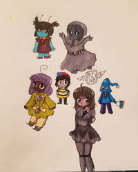 Some more doodles by Rainbowdoodler209
