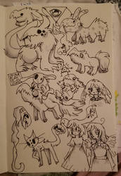 A Page full of Monsters
