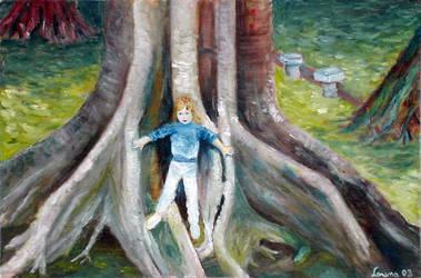 Girl and tree by ninalorena