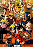 Goku and Naruto Transformations by Brunohatake3