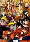 Goku and Naruto Transformations