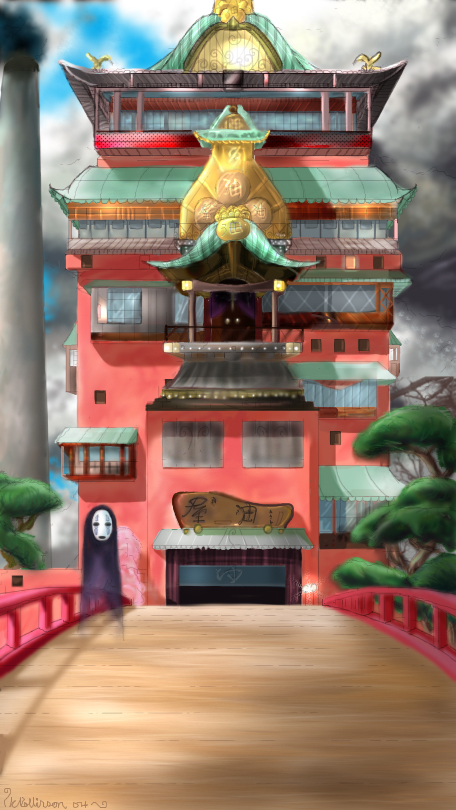 Spirited Away The Bathhouse By Frootyness On Deviantart