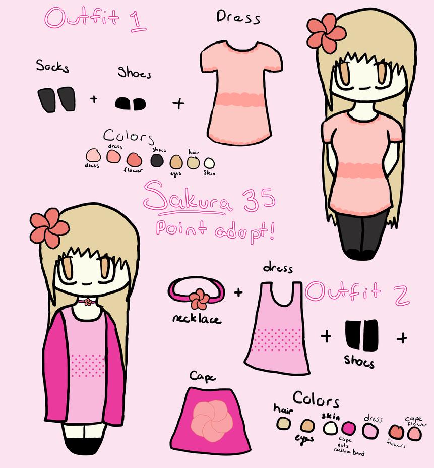 Sakura -35 point adoptable- {OPEN} by Freezeash