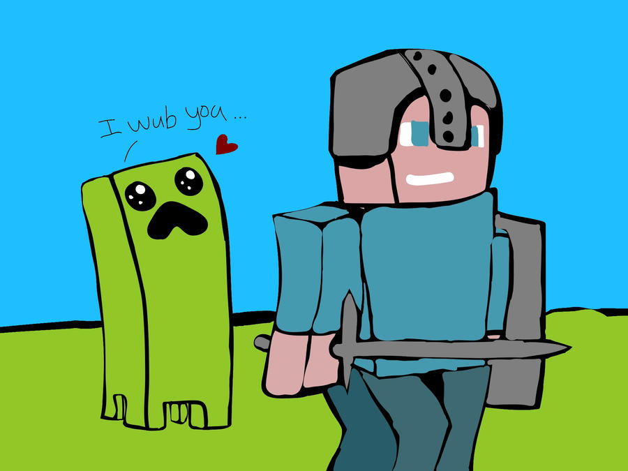 Creeper Just Wants A Hug By Pythonis
