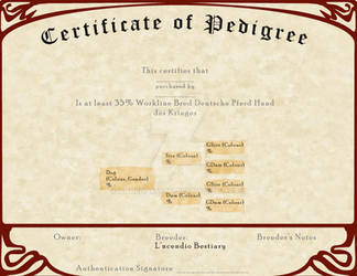 L'ncendio's Breeding Certificate - Working Line by AthenaMyth
