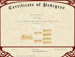 L'ncendio's Breeding Certificate - Working Line by AthenaMyth