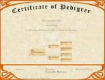 L'ncendio's Breeding Certificate - Krieges by AthenaMyth