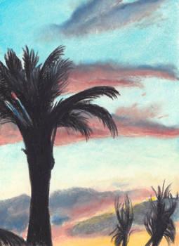 Sunset in Nice