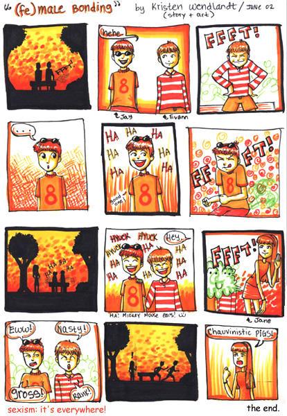 feMALE BONDING comic by bereftmuse