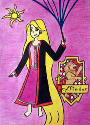 Rapunzel at Hogwarts by SilenZahra