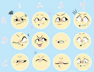 Facial expression chart not mine by rammsteintrash on deviantart
