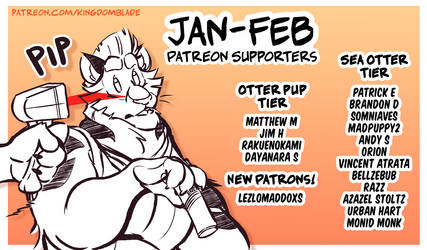 Patreon Supporters - Jan-Feb 2021