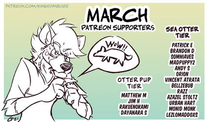 Patreon Supporters - March 2021