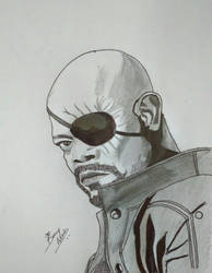 Nick Fury by bonnymathew