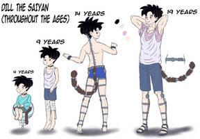 Dill through years (Saiyan OC)