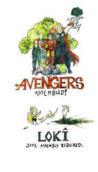 Avengers Comic Coloured by WhyteInq