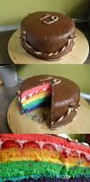 rainbow cake by moon88shadow
