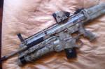 SCAR-L Carbine w/ EGLM Launcher in ATACS paint