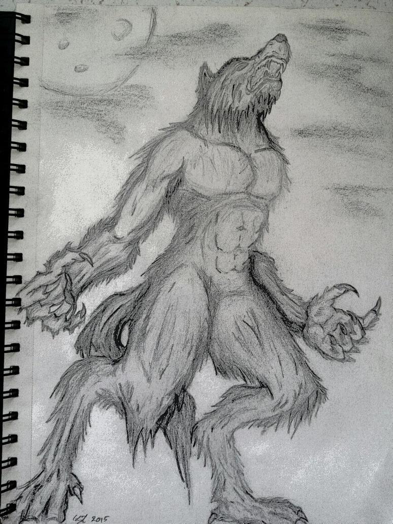 Howling Werewolf by moose-lee